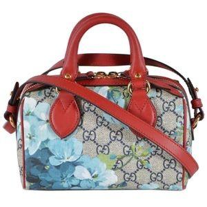 Gucci Blooms GG Supreme Mini Boston Bag